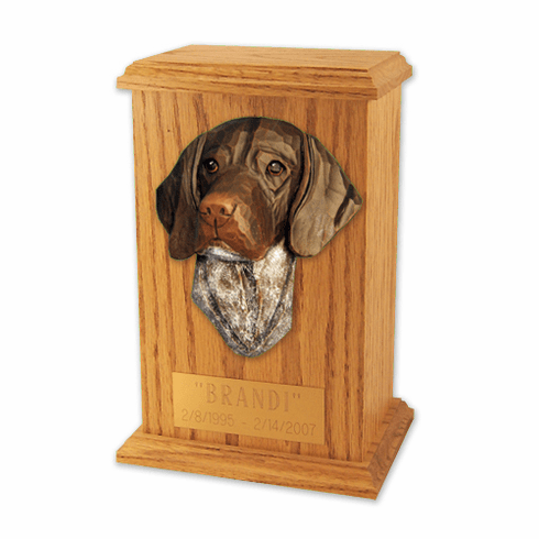 German Shorthaired Pointer Memorial Urn