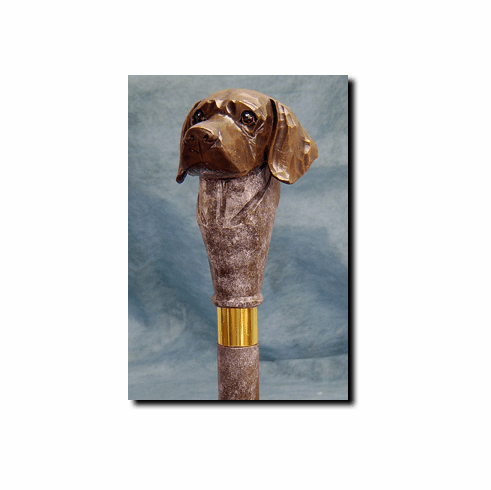German Shorthaired Pointer Walking Stick, Hiking Staff