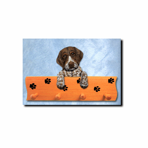 German Wirehaired Pointer Dog Four-Peg Hang Up