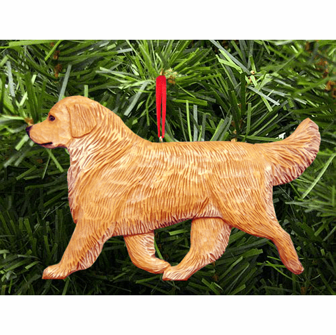 golden retriever christmas ornament