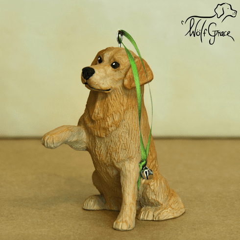 Golden Retriever 3-Dimenional Christmas Ornament