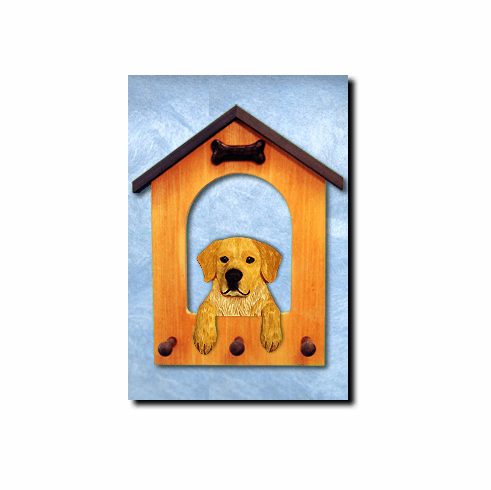 Golden Retriever Show Pose Dog House Leash Holder
