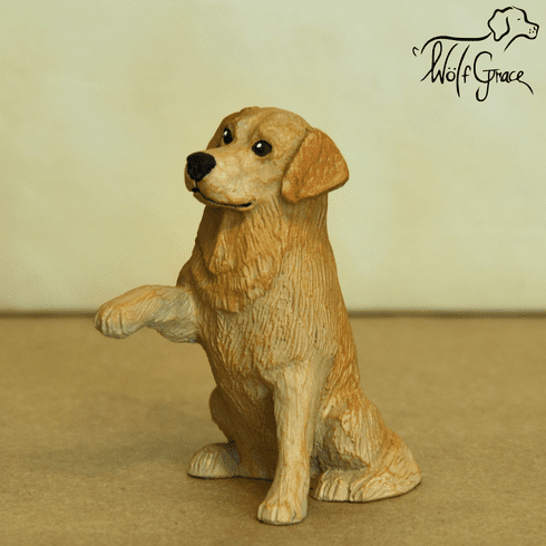 Golden Retriever Show Pose Figurine