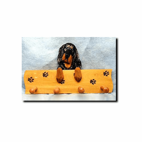 Gordon Setter Dog Four-Peg Hang Up