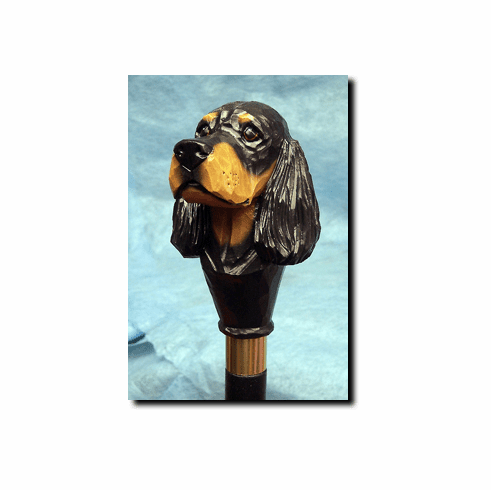 Gordon Setter Walking Stick, Hiking Staff