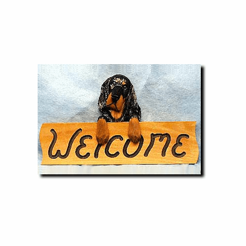 Gordon Setter Welcome Sign