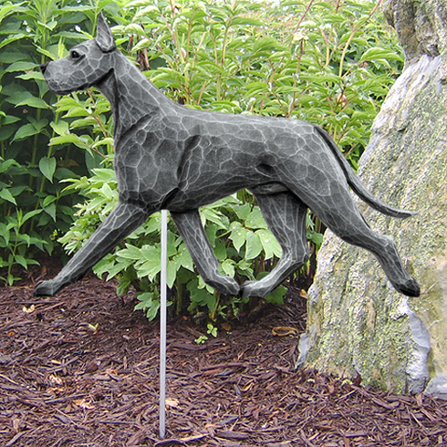 Great Dane Garden Stake-Blue
