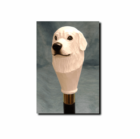 Great Pyrenees Walking Stick, Hiking Staff