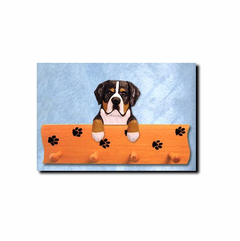 Greater Swiss Mountain Dog Four-Peg Hang Up