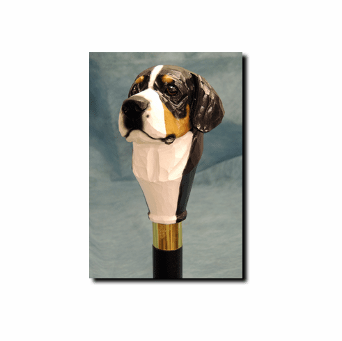 Greater Swiss Mountain Dog Walking Stick, Hiking Staff