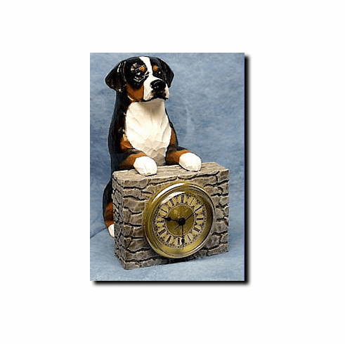 Greater Swiss Mt. Dog Mantle Clock