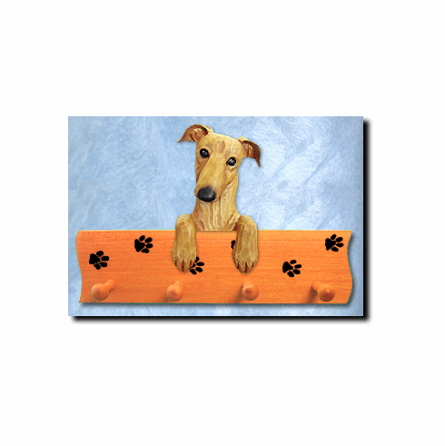 Greyhound Dog Four-Peg Hang Up