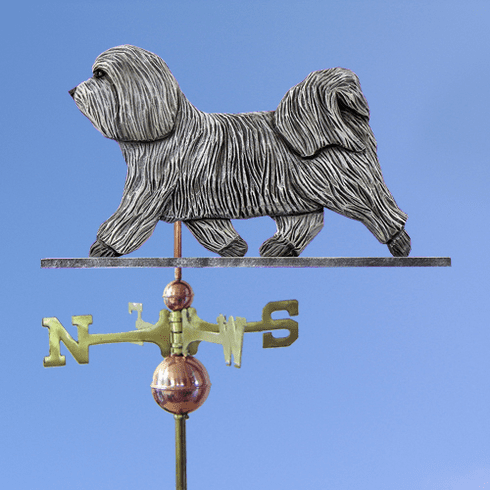 Havanese Weathervane-Light Grey