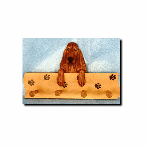 Irish Setter Dog Four-Peg Hang Up