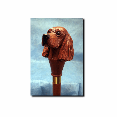 Irish Setter Walking Stick, Hiking Staff