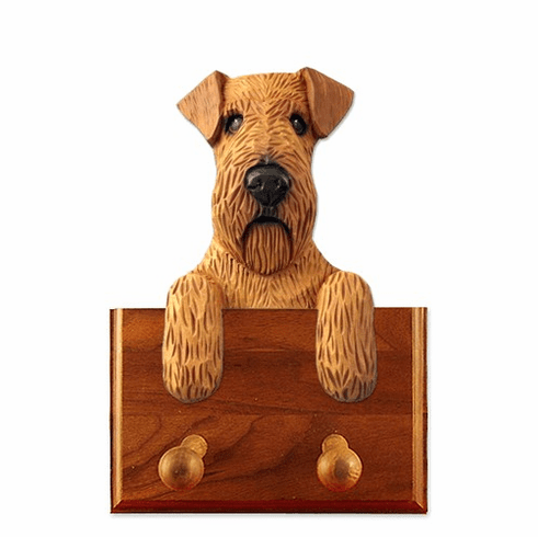 Irish Terrier Walnut Dog Leash Holder