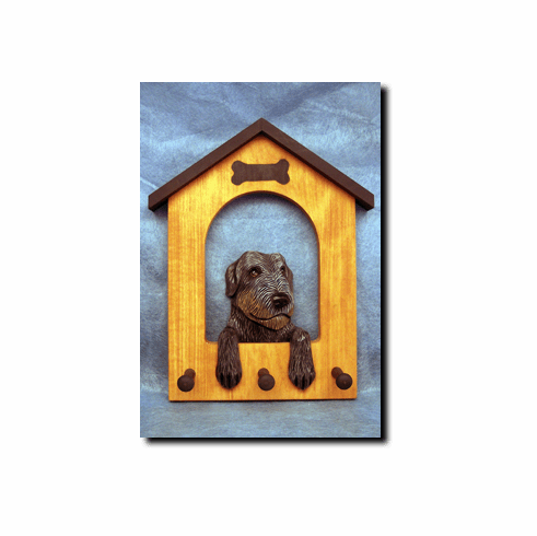 Irish Wolfhound Dog House Leash Holder