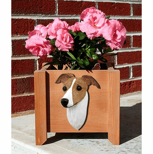Italian Greyhound Planter Box