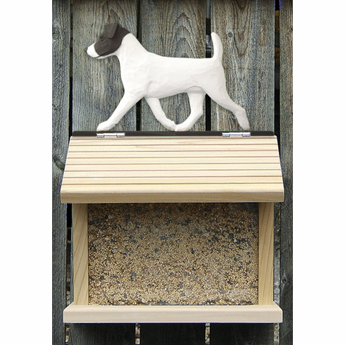 Jack Russell Terrier Bird Feeder-Black/White