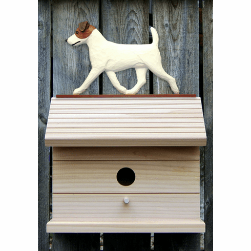 Jack Russell Terrier Bird House-Brown/White