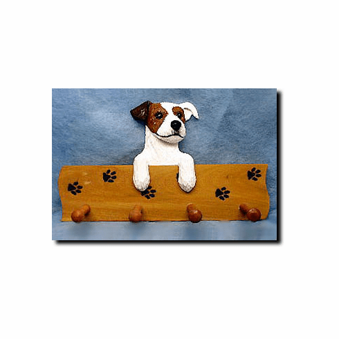 Jack Russell Terrier Rough Coat Dog Four-Peg Hang Up