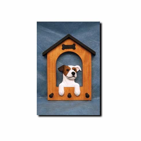 Jack Russell Terrier Rough Coat Dog House Leash Holder