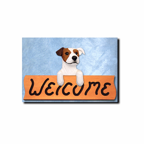 Jack Russell Terrier Rough Coat Welcome Sign