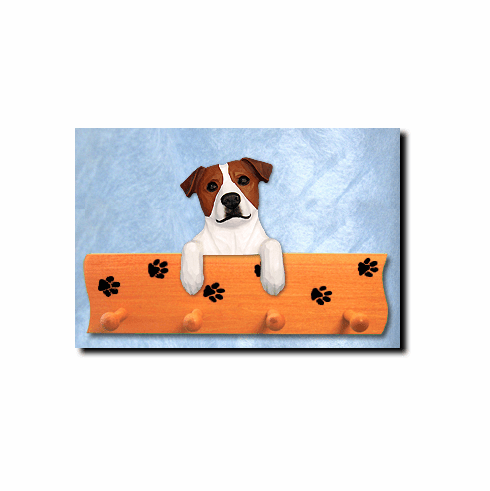 Jack Russell Terrier Smooth Coat Dog Four-Peg Hang Up