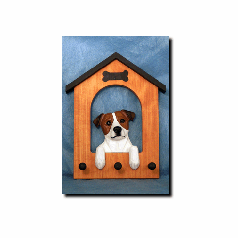 Jack Russell Terrier Smooth Coat Dog House Leash Holder
