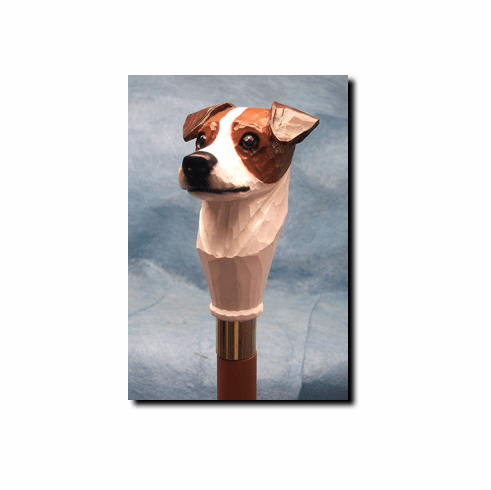 Jack Russell Terrier Smooth Coat Walking Stick, Hiking Staff