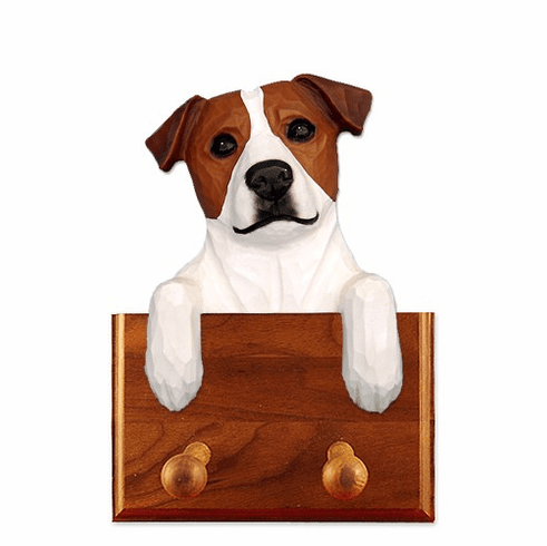 Jack Russell Terrier Smooth Coat Walnut Dog Leash Holder
