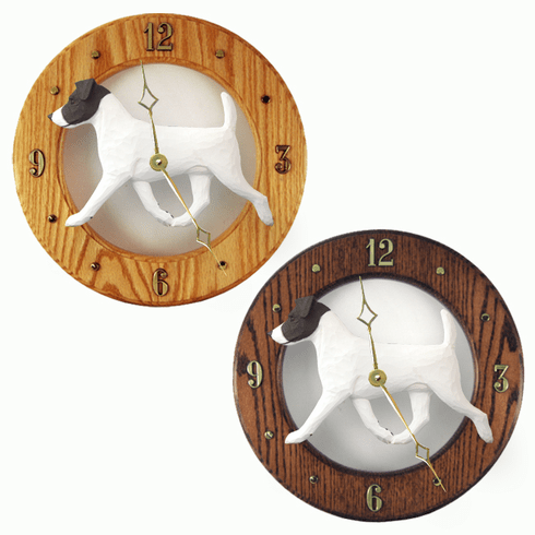 Jack Russell Terrier Wall Clock-Black-White