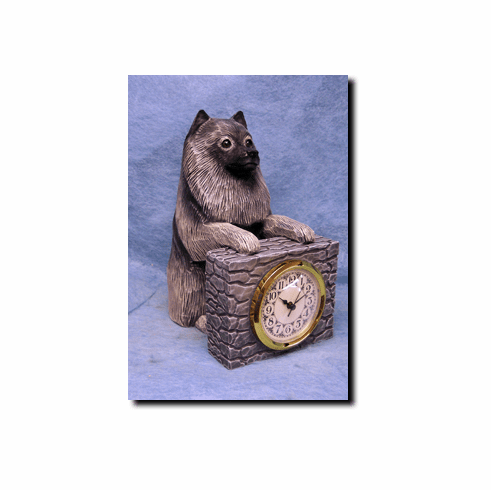 Keeshond Mantle Clock