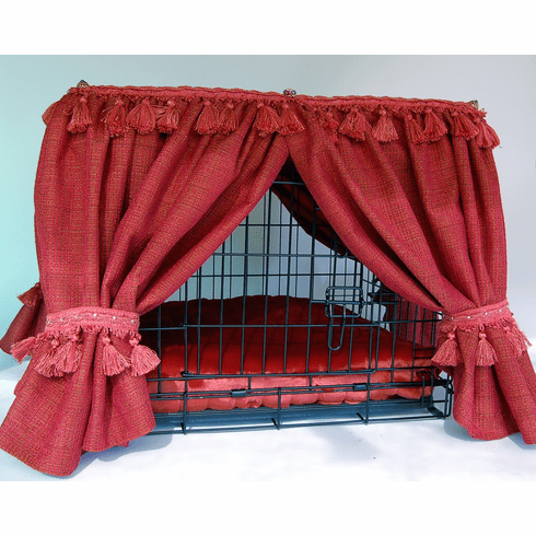 Kennel Couture Bed and Cover-Raspberry Tone
