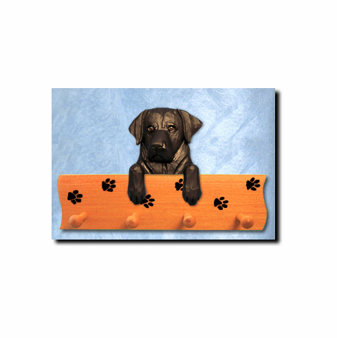 Labrador Retriever Dog Four-Peg Hang Up