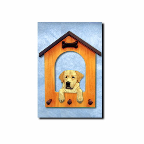 Labrador Retriever Dog House Leash Holder