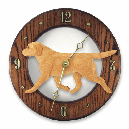 Labrador Retriever Solid Oak Wall Clock