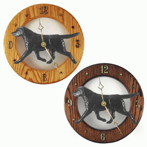Labrador Retriever Wall Clock-Black