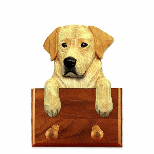 Labrador Retriever Walnut Dog Leash Holder