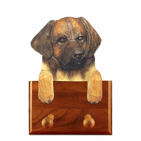 Leonberger Walnut Dog Leash Holder