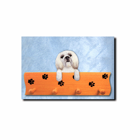 Lhasa Apso Puppy Clip Dog Four-Peg Hang Up