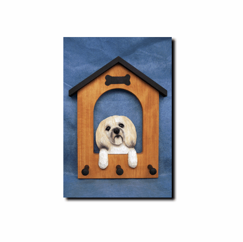 Lhasa Apso Puppy Clip Dog House Leash Holder