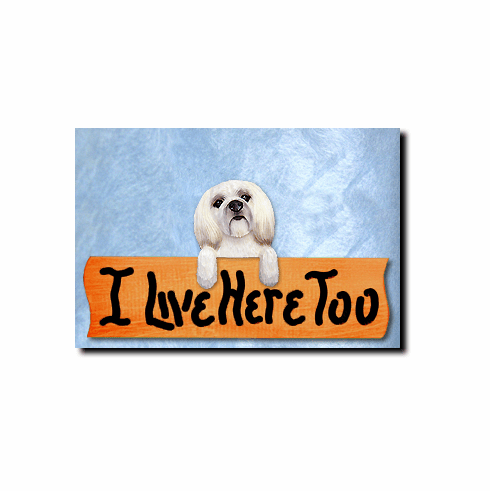 Lhasa Apso Puppy Clip I Live Here Too Sign