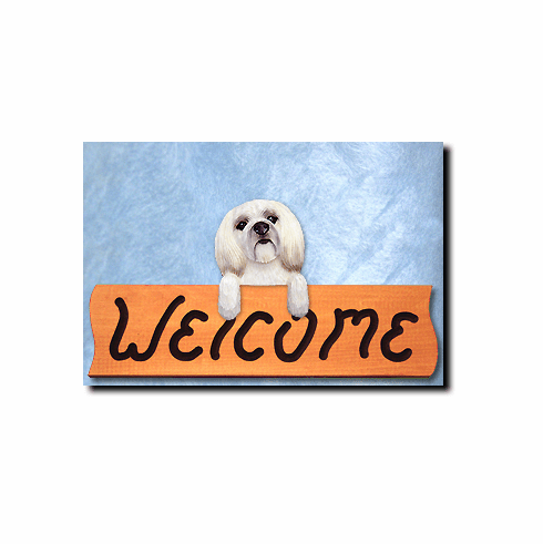 Lhasa Apso Puppy Clip Welcome Sign
