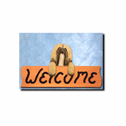 Lhasa Apso Welcome Sign