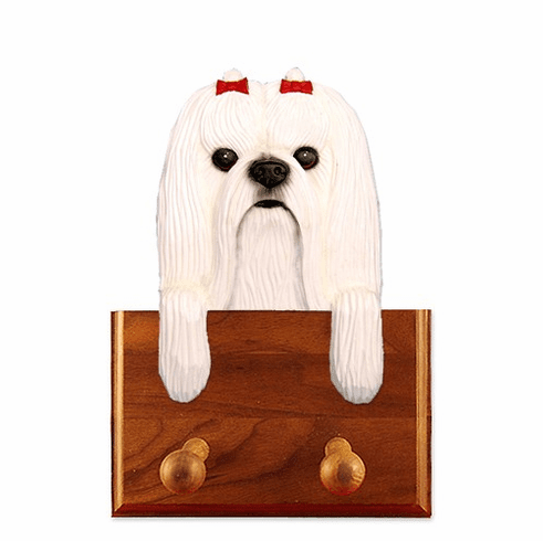 Maltese Walnut Dog Leash Holder