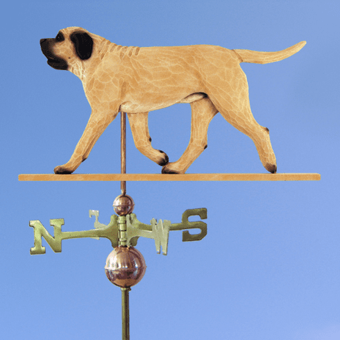 Mastiff Weathervane-Fawn