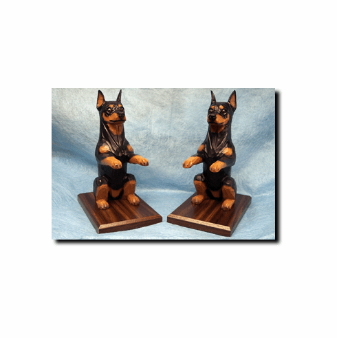 Miniature Pinscher Bookends