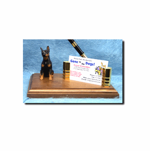 Miniature Pinscher Deluxe Desk Set