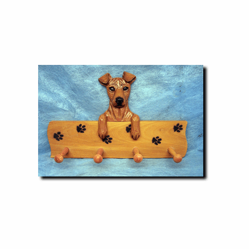 Miniature Pinscher Natural Ears Dog Four-Peg Hang Up